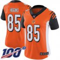 Cheap Nike Bengals #85 Tee Higgins Orange Alternate Women's Stitched NFL 100th Season Vapor Untouchable Limited Jersey