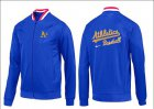 Cheap Baseball Oakland Athletics Zip Jacket Blue_1