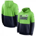 Cheap Seattle Seahawks Nike Sideline Impact Lockup Performance Pullover Hoodie Neon Green College Navy