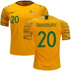 Cheap Australia #20 Sainsbury Home Soccer Country Jersey