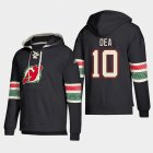 Cheap New Jersey Devils #10 Jean-Sebastien Dea Black adidas Lace-Up Pullover Hoodie