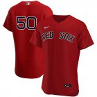 Cheap Boston Red Sox #50 Mookie Betts Men's Nike Red Alternate 2020 Authentic Player Team MLB Jersey