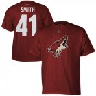 Cheap Arizona Coyotes #41 Mike Smith Reebok Name and Number Player T-Shirt Red