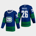 Cheap Vancouver Canucks #26 Antoine Roussel Men's Adidas 2020-21 Authentic Player Alternate Stitched NHL Jersey Blue