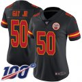 Cheap Nike Chiefs #50 Willie Gay Jr. Black Women's Stitched NFL Limited Rush 100th Season Jersey