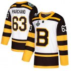 Cheap Adidas Bruins #63 Brad Marchand White Authentic 2019 Winter Classic Stanley Cup Final Bound Youth Stitched NHL Jersey