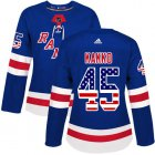 Cheap Adidas Rangers #45 Kappo Kakko Royal Blue Home Authentic USA Flag Women's Stitched NHL Jersey