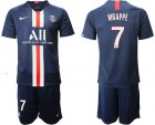Cheap Paris Saint-Germain #7 Mbappe Home Soccer Club Jersey