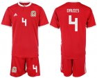 Cheap Wales #4 Davies Red Home Soccer Club Jersey