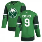 Cheap Buffalo Sabres #9 Jack Eichel Men's Adidas 2020 St. Patrick's Day Stitched NHL Jersey Green.jpg