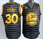 Cheap Golden State Warriors #30 Stephen Curry Gray With Black Pinstripe Jersey