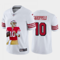 Cheap San Francisco 49ers #10 Jimmy Garoppolo Nike Team Hero Rush Vapor Limited NFL Jersey White