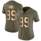 Cheap Nike Redskins #99 Chase Young Olive/Gold Women's Stitched NFL Limited 2017 Salute To Service Jersey
