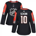 Cheap Adidas Blues #10 Brayden Schenn Black 2018 All-Star Central Division Authentic Women's Stitched NHL Jersey