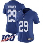 Cheap Nike Giants #29 Xavier McKinney Royal Blue Team Color Women's Stitched NFL 100th Season Vapor Untouchable Limited Jersey