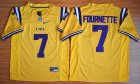 Cheap LSU Tigers #7 Fournette Gold 2015 College Football Nike Limited Jersey