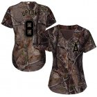 Cheap Angels #8 Justin Upton Camo Realtree Collection Cool Base Women's Stitched MLB Jersey