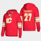 Cheap Calgary Flames #27 Austin Czarnik Red adidas Lace-Up Pullover Hoodie