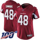 Cheap Nike Cardinals #48 Isaiah Simmons Red Team Color Women's Stitched NFL 100th Season Vapor Untouchable Limited Jersey