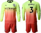 Cheap Manchester City #3 Danilo Third Long Sleeves Soccer Club Jersey