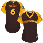 Cheap Pirates #6 Starling Marte Brown 2016 All-Star National League Women's Stitched MLB Jersey