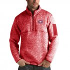 Cheap Montreal Canadiens Antigua Fortune Quarter-Zip Pullover Jacket Red