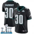 Cheap Nike Eagles #30 Corey Clement Black Alternate Super Bowl LII Youth Stitched NFL Vapor Untouchable Limited Jersey