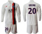 Cheap Paris Saint-Germain #20 Kurzawa Away Long Sleeves Soccer Club Jersey