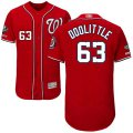 Cheap Nationals #63 Sean Doolittle Red Flexbase Authentic Collection 2019 World Series Champions Stitched MLB Jersey