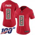 Cheap Nike Buccaneers #8 Bradley Pinion Red Women's Stitched NFL Limited Rush 100th Season Jersey