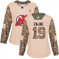 Cheap Adidas Devils #19 Travis Zajac Camo Authentic 2017 Veterans Day Women's Stitched NHL Jersey
