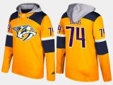 Cheap Predators #74 Juuse Saros Yellow Name And Number Hoodie