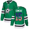 Cheap Adidas Stars #15 Blake Comeau Green Home Authentic USA Flag Youth Stitched NHL Jersey