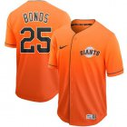 Cheap Nike Giants #25 Barry Bonds Orange Fade Authentic Stitched MLB jerseys