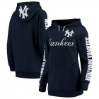 Cheap New York Yankees G-III 4Her by Carl Banks Women's Extra Innings Pullover Hoodie Navy