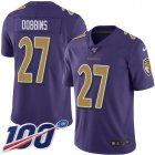 Cheap Nike Ravens #27 J.K. Dobbins Purple Youth Stitched NFL Limited Rush 100th Season Jersey