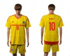 Cheap Wales #10 Ramsey Away Soccer Country Jersey
