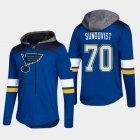 Cheap Blues #70 Oskar Sundqvist Blue 2018 Pullover Platinum Hoodie