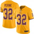 Cheap Nike Redskins #32 Samaje Perine Gold Youth Stitched NFL Limited Rush Jersey