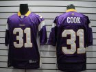 Cheap Vikings #31 Chris Cook Purple Stitched NFL Jersey