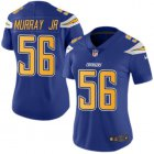Cheap Nike Chargers #56 Kenneth Murray Jr Electric Blue Women's Stitched NFL Limited Rush Jersey
