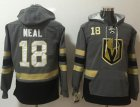 Cheap Golden Knights #18 James Neal Grey Name & Number Pullover NHL Hoodie