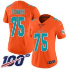 Cheap Nike Dolphins #75 Ereck Flowers Orange Women's Stitched NFL Limited Inverted Legend 100th Season Jersey