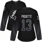Cheap Adidas Lightning #13 Cedric Paquette Black Alternate Authentic Women's Stitched NHL Jersey