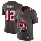 Cheap Tampa Bay Buccaneers #12 Tom Brady Men's Nike Player Signature Moves Vapor Limited NFL Jersey Pewter
