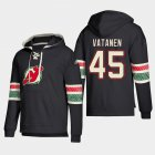 Cheap New Jersey Devils #45 Sami Vatanen Black adidas Lace-Up Pullover Hoodie