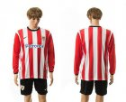 Cheap Athletic Bilbao Blank Home Long Sleeves Soccer Club Jersey