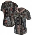 Cheap Nike 49ers #81 Terrell Owens Camo Women's Stitched NFL Limited Rush Realtree Jersey