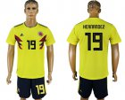Cheap Colombia #19 Hernandez Home Soccer Country Jersey