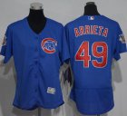 Cheap Cubs #49 Jake Arrieta Blue Flexbase Authentic Women's Stitched MLB Jersey